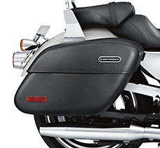 Rigid Leather Locking Saddlebags