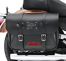 Large Capacity Leather Saddlebag...
