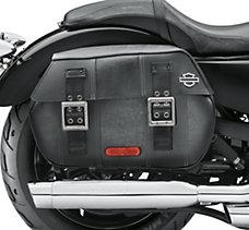 Black Distressed Leather Saddleb...