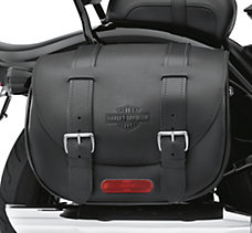 Cross Bones Leather Saddlebags