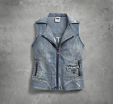 Pieced Denim Vest