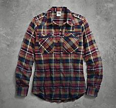 Dip-Dyed Plaid Shirt