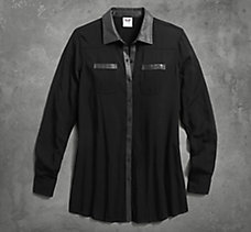 Coated Accent Shirt
