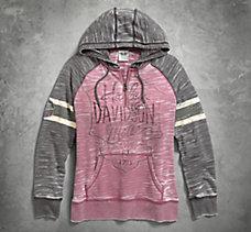 Burnout Sleeve Stripe Hoodie