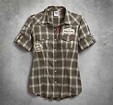 Multi-Patch Plaid Shirt