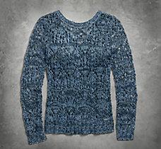 Crossback Open Knit Sweater