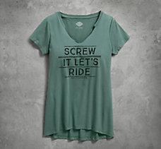 Screw It Let's Ride Notch Neck T...