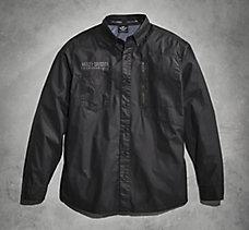 Coated Chambray Shirt