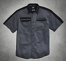 Shoulder Stripe Twill Shirt