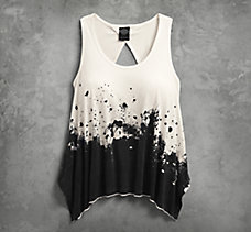 Splatter Twisted Back Tank
