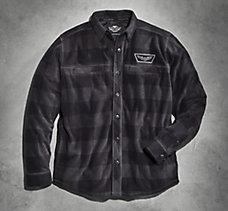 Plaid Fleece Snap Shirt Jacket