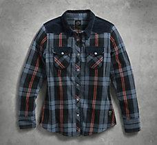 Corduroy Accent Plaid Shirt