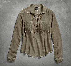 Lace Up Safari Shirt