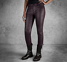 Skinny Coated Mid-Rise Jeans
