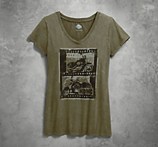 Film Strip V-Neck Tee