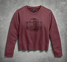 Needle Punch Pullover Sweatershi...