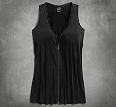Zipper Accent Tank Dress