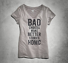 Bad Choices V-Neck Tee