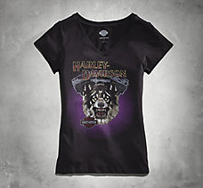 Engine Wolf V-Neck Tee