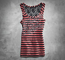 Striped Lace Tank Top