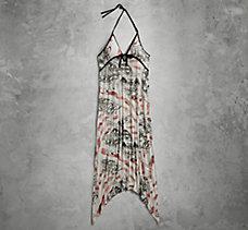 Allover Print Halter Maxi Dress