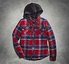 Large Scale Plaid Shirt Jacket