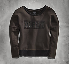 Raw-Edge Applique Sweatshirt