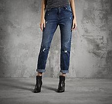 Boyfriend Mid-Rise Jeans