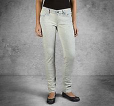 Skinny Splatter Mid-Rise Jeans