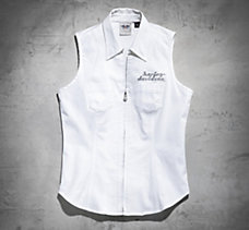 Laced Back Sleeveless Shirt