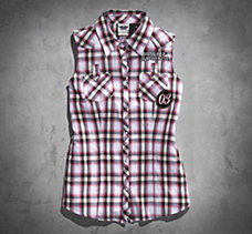 Speed Kat Plaid Sleeveless Shirt