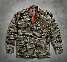Quilted Camouflage Shirt Jacket
