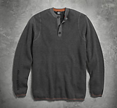 Henley Cashmere Blend Sweater