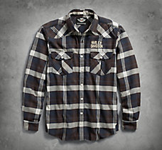 Three Needle Stitch Plaid Shirt