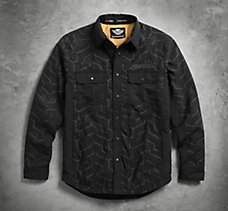 Tire Tread Shirt Jacket