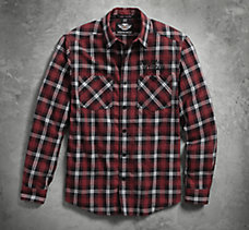 Embroidered Plaid Flannel Shirt