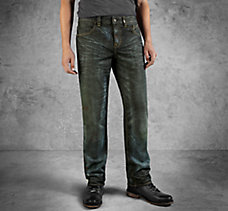 Slim Fit Mercerized Denim Jeans