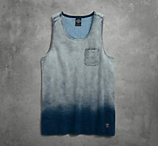 Indigo Washed Slub Tank
