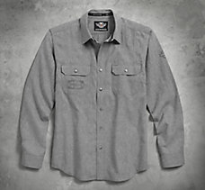Textured Arched Yoke Shirt