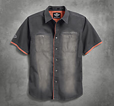 Contrast Accent Distressed Shirt