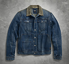 Corduroy Accent Denim Trucker Ja...