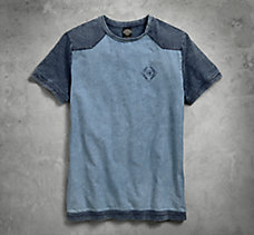 Chambray Colorblock Tee