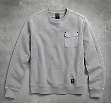 Quilted Accent Pullover