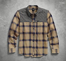 Quilted Yoke Plaid Shirt