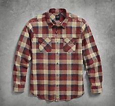 Acid Wash Plaid Shirt