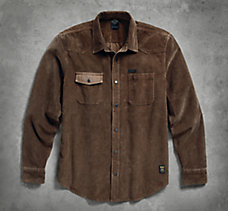 Elbow Patch Corduroy Shirt