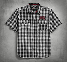 Chain Stitch Plaid Shirt