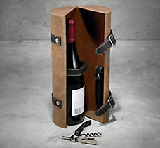 Leather Wine & Accessory Case