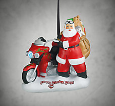 Biker Santa Resin Ornament