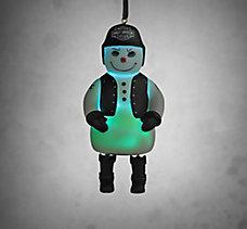 Biker Snowman Ornament